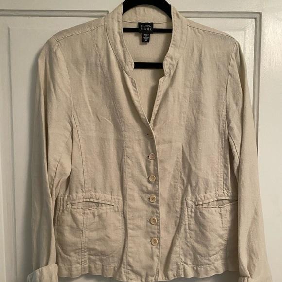 Eileen Fisher Jackets & Blazers - Eileen Fisher Irish Linen Flax Jacket Blazer M